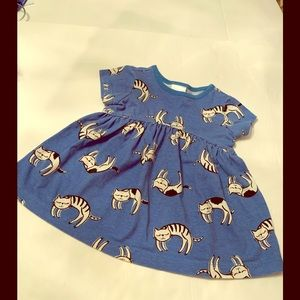 Hannah Andersson Baby Girl's Dress with Kitty Cats